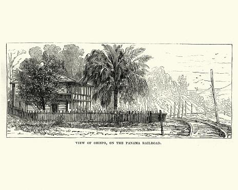 Obispo, Panama Railroad, 19th Century