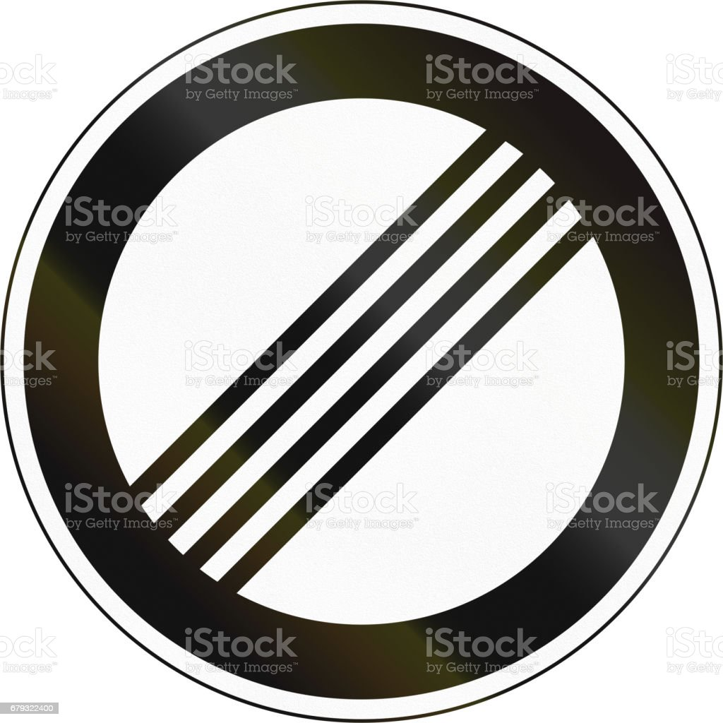 Obsolete Korean Traffic Sign - End restriction royalty-free obsolete korean traffic sign end restriction stock vector art & more images of asia