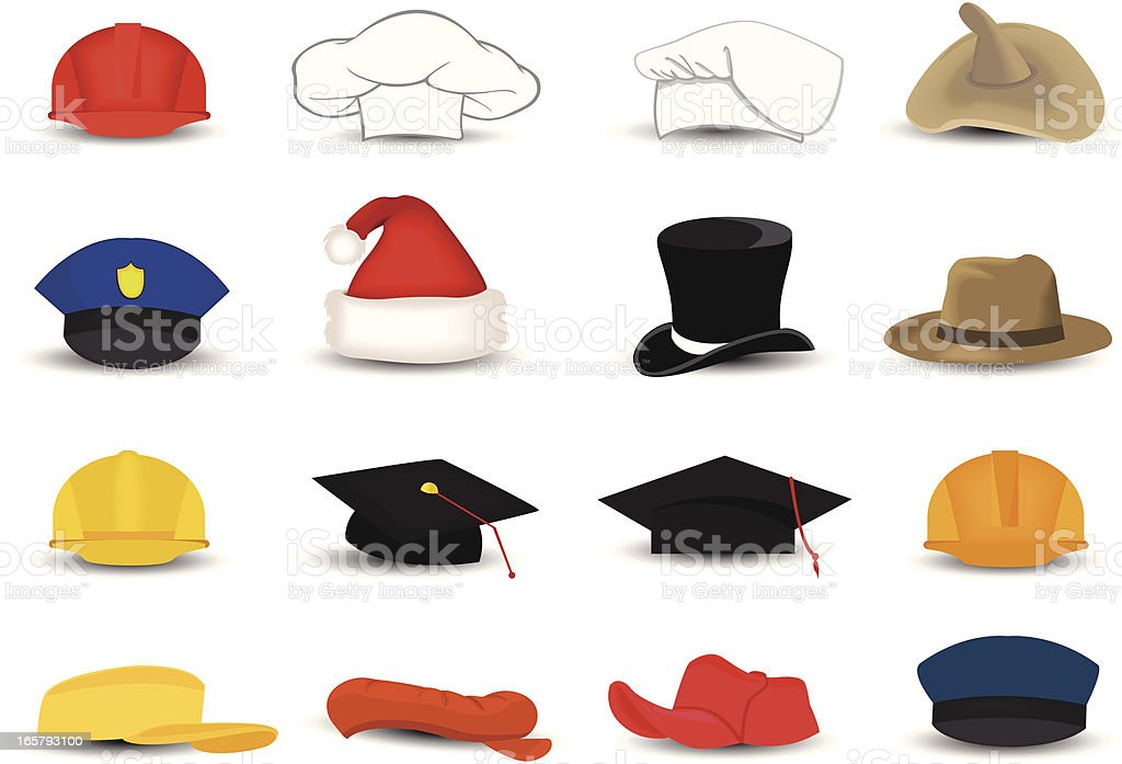 occupation hats royalty-free stock vector art