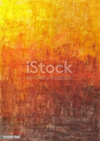 Watercolor October texture abstract background, hand drawn illustration