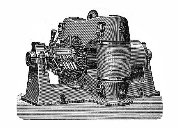 Oerlikon machine vector art illustration