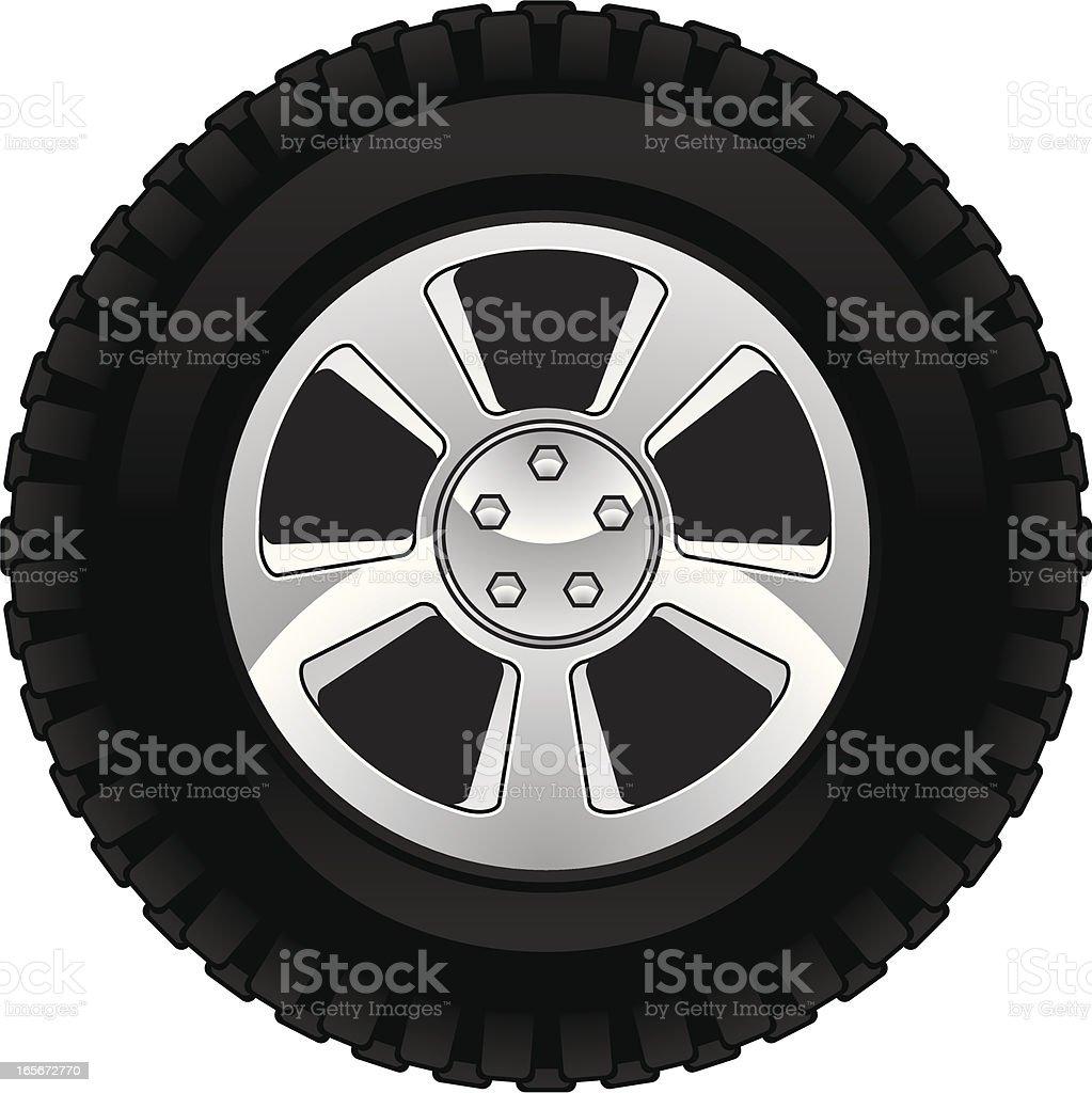 off road tire vector art illustration