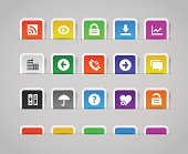 Office and web icons, set 1 | Paper labels