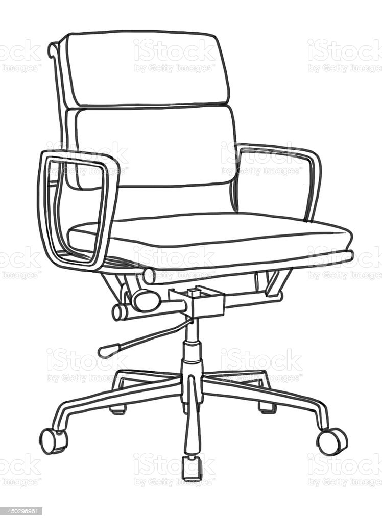 Office Chair Hand Drawing Illustration Royalty Free Stock Vector Art