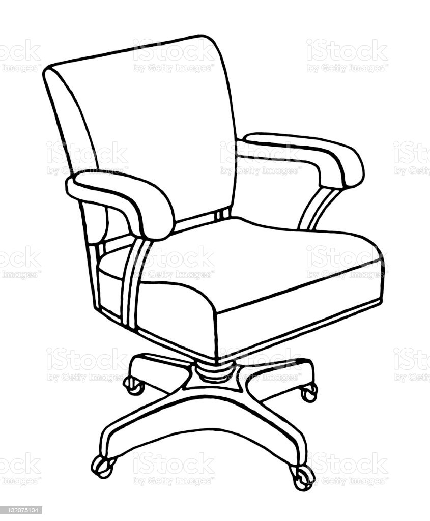 Office Chair royalty-free office chair stock vector art & more images of absence