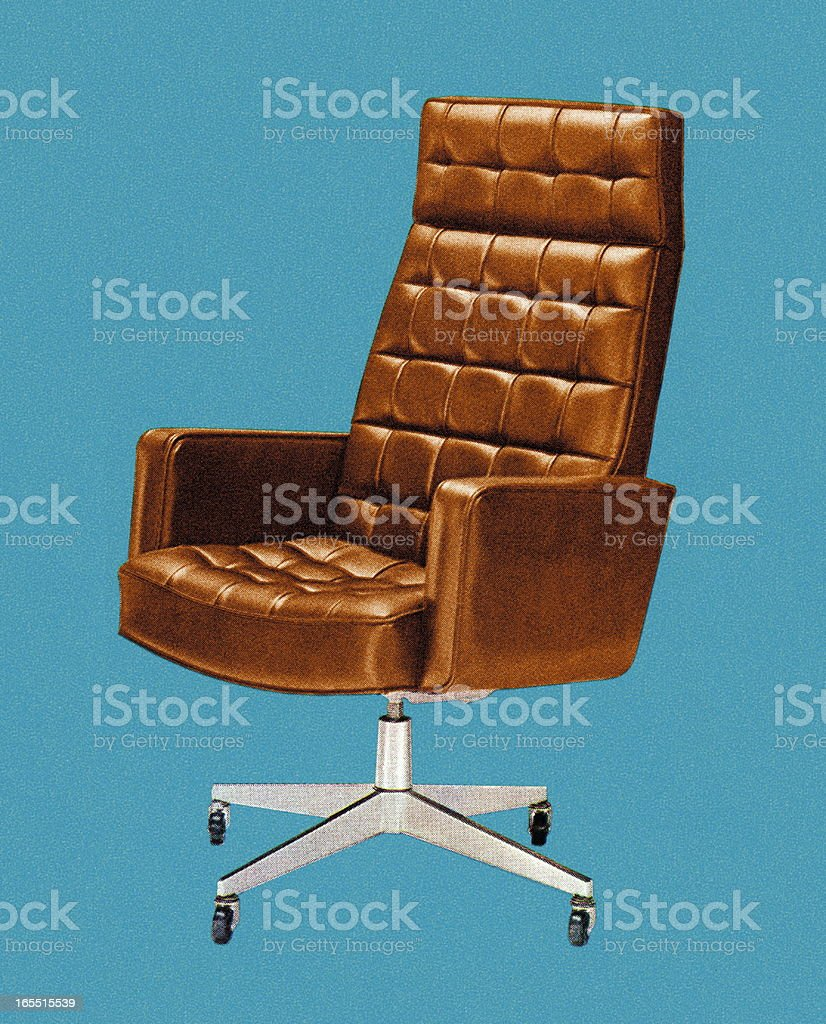 Office Chair vector art illustration