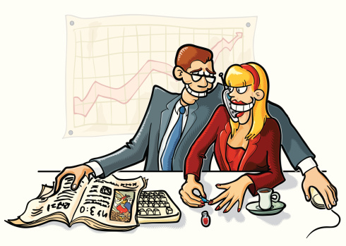Office Connection Stock Illustration - Download Image Now