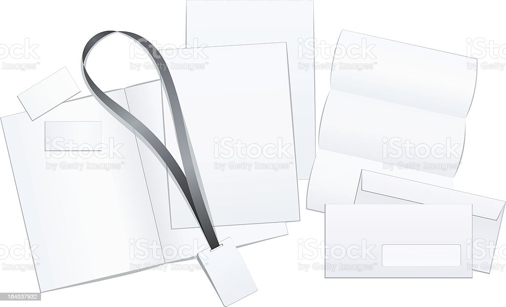 office elements royalty-free stock vector art
