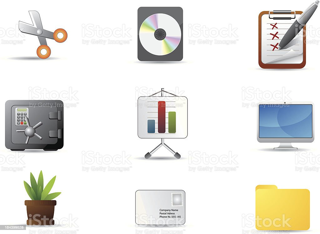 Office icon set 3 royalty-free stock vector art