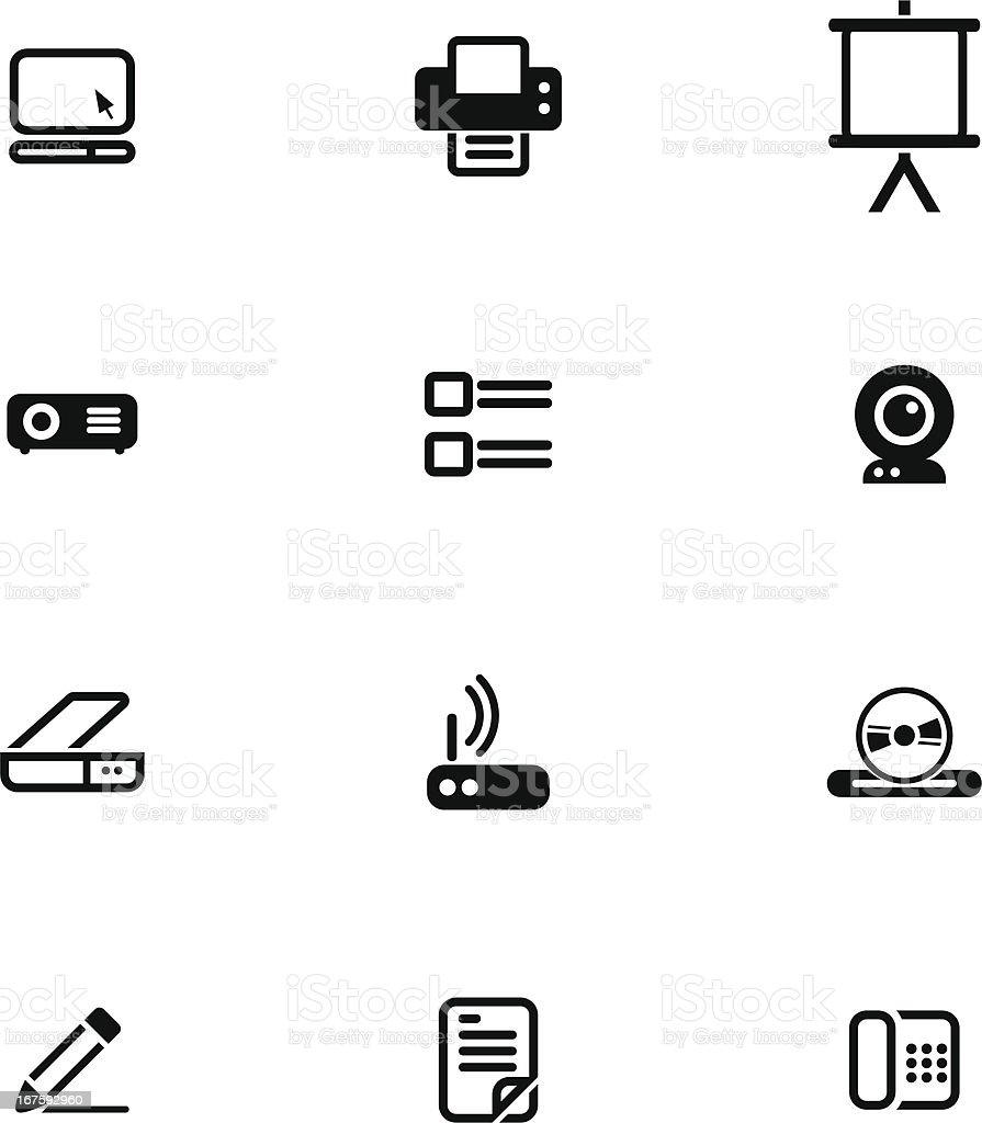 Office Icon Set vector art illustration