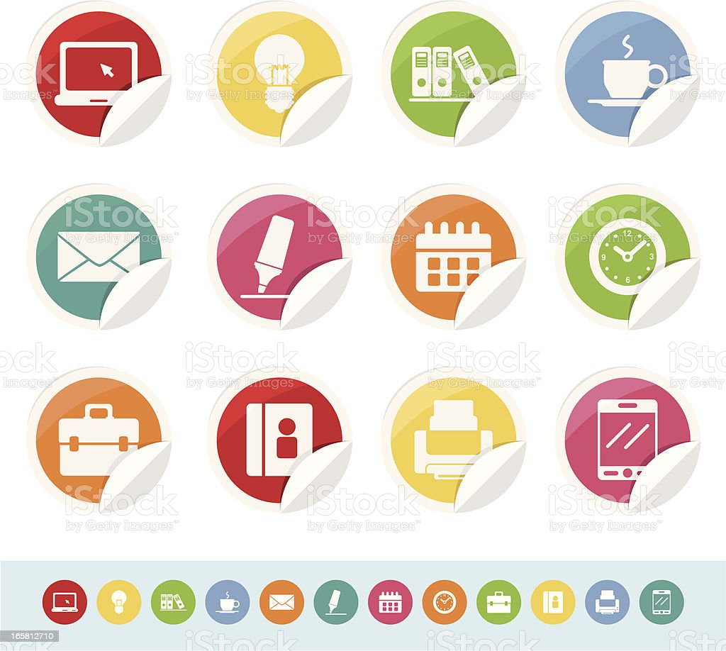 office icons royalty-free office icons stock vector art & more images of address book