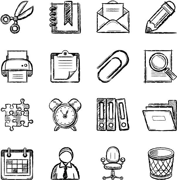 Büro Symbole – Vektorgrafik