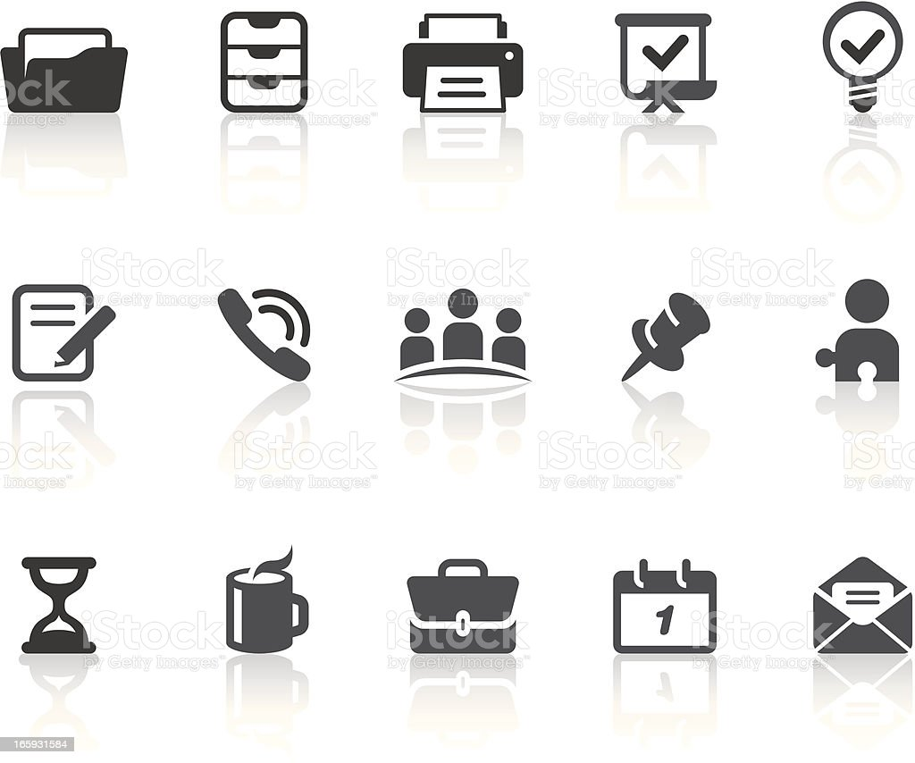 Office Icons | Simple Black Series royalty-free stock vector art