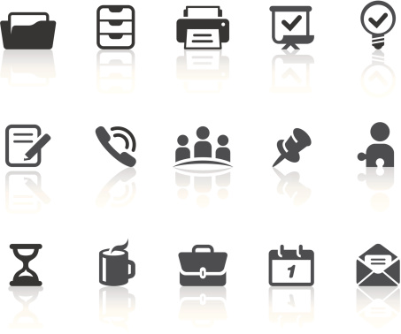 Office Icons | Simple Black Series