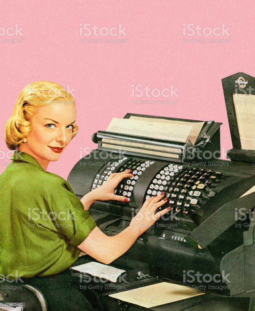 Office Machine vector art illustration