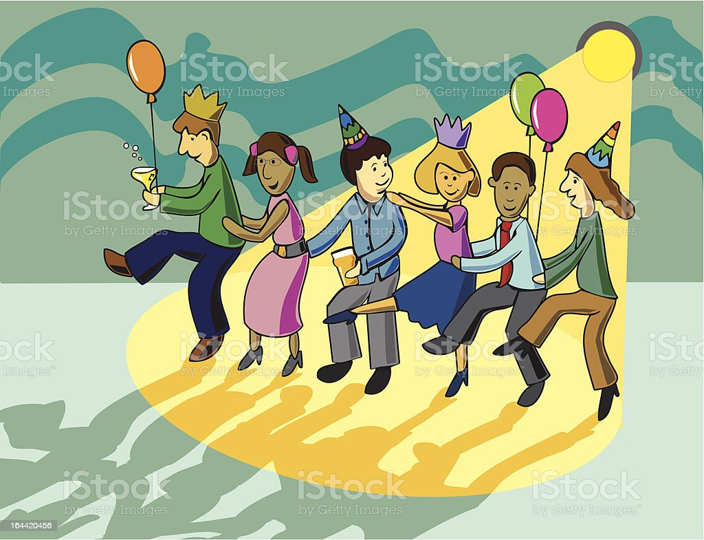 Office Party vector art illustration
