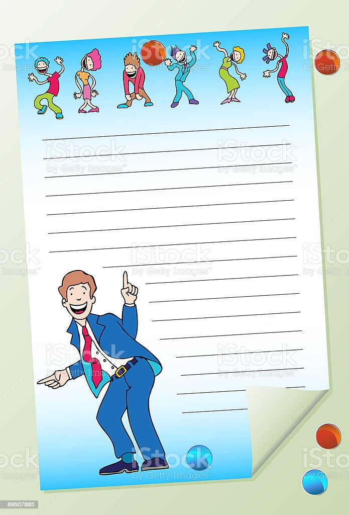 Office Party Posted Note royalty-free office party posted note stock vector art & more images of adult