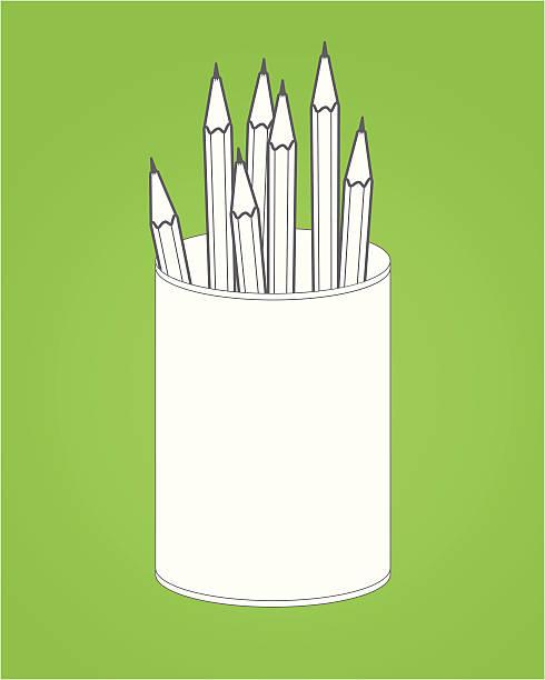 ilustraciones, imágenes clip art, dibujos animados e iconos de stock de lápiz de oficina de la suite - suministros escolares