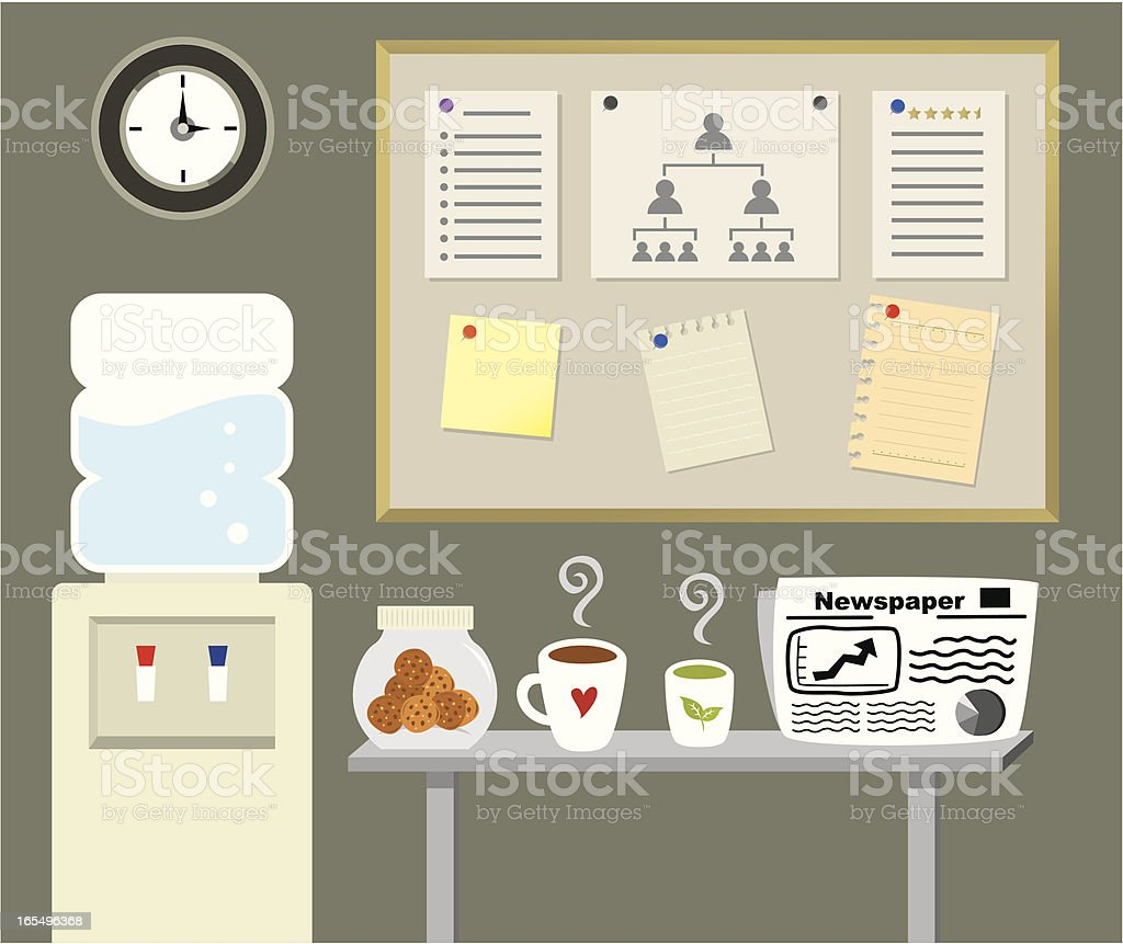 office tea break vector art illustration