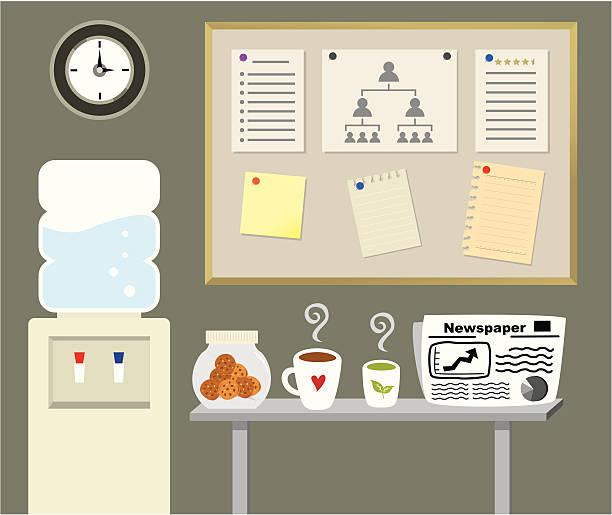 büro teepause - keks grafiken stock-grafiken, -clipart, -cartoons und -symbole