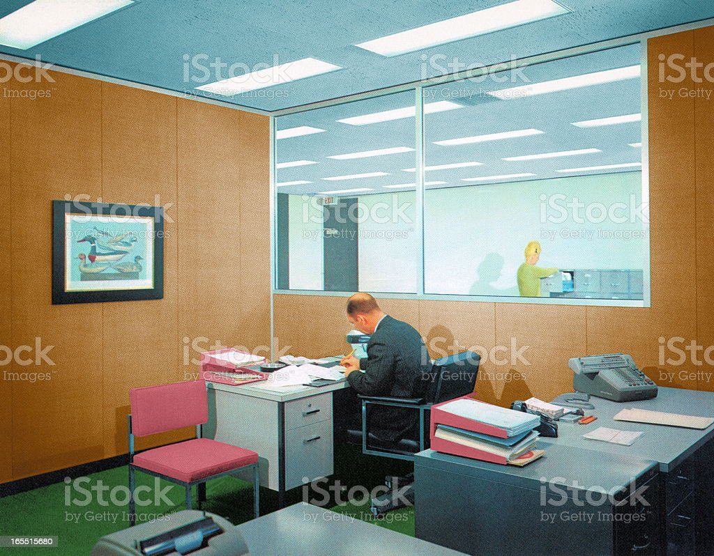Office Workspace royalty-free stock vector art