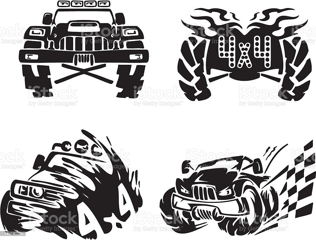 Offroad Symbol Stock Illustration - Download Image Now - iStock