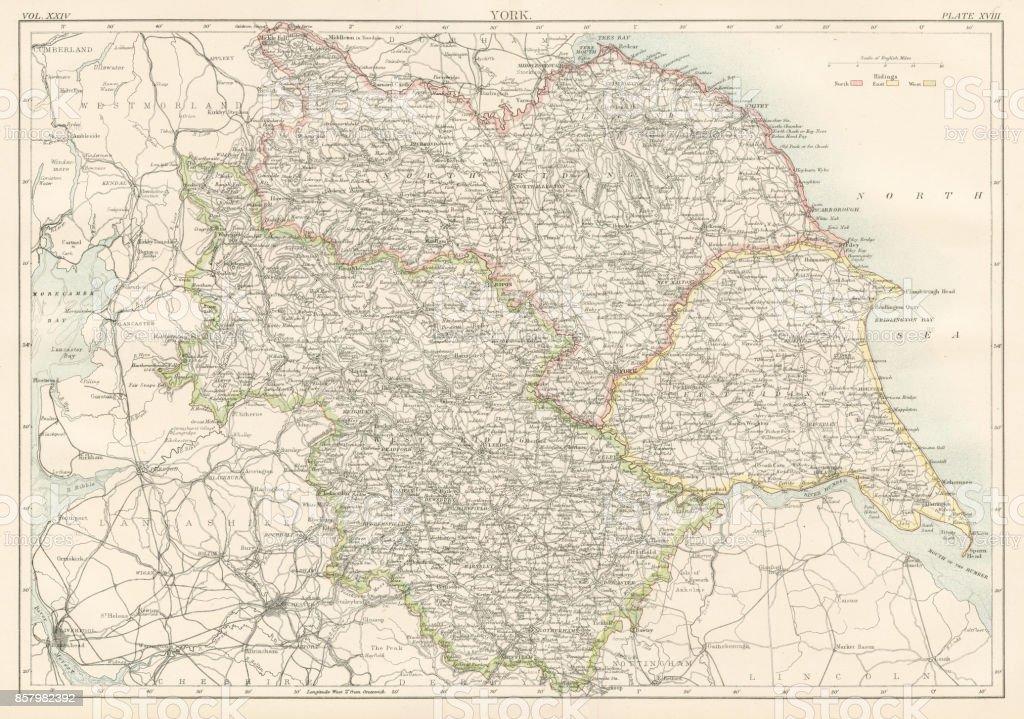 Antique Ohio Map.Ohio Map 1885 Stock Vector Art More Images Of Antique 857982392
