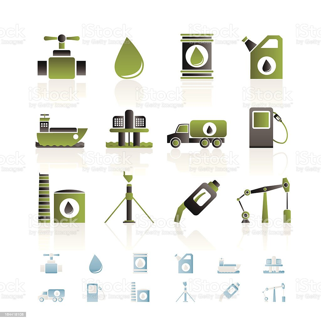 oil and petrol industry objects icons royalty-free oil and petrol industry objects icons stock vector art & more images of bank deposit slip