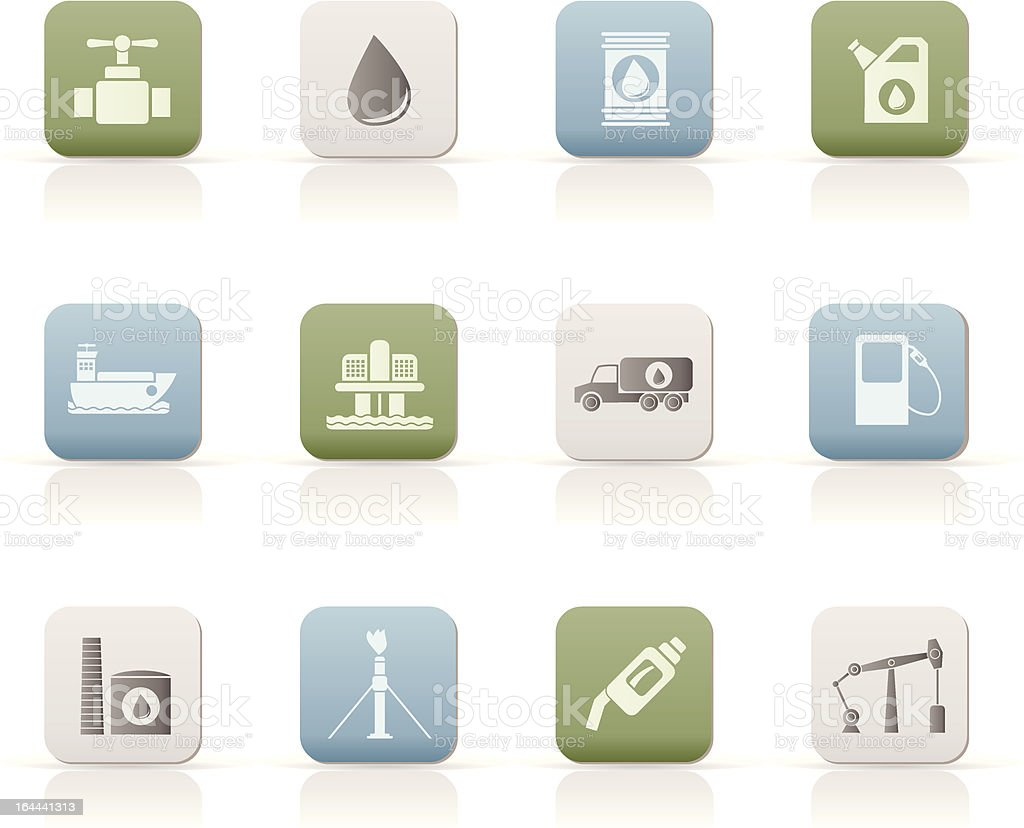 oil and petrol industry objects icons royalty-free stock vector art