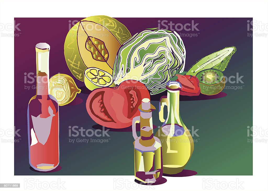 oil and vinegar royalty-free stock vector art