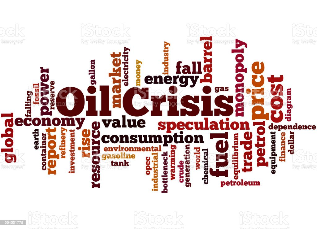 Oil Crisis Word Cloud Concept Stock Illustration - Download
