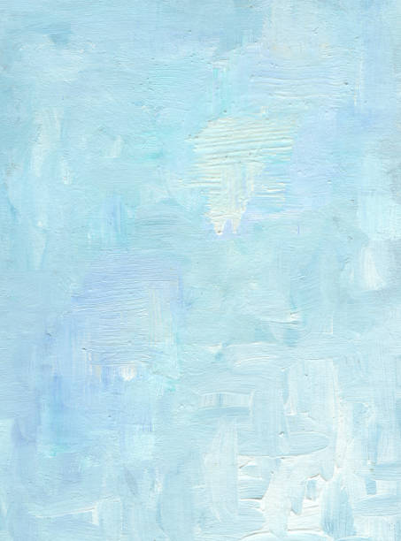 oil painted abstract background in blue - oil painting stock illustrations