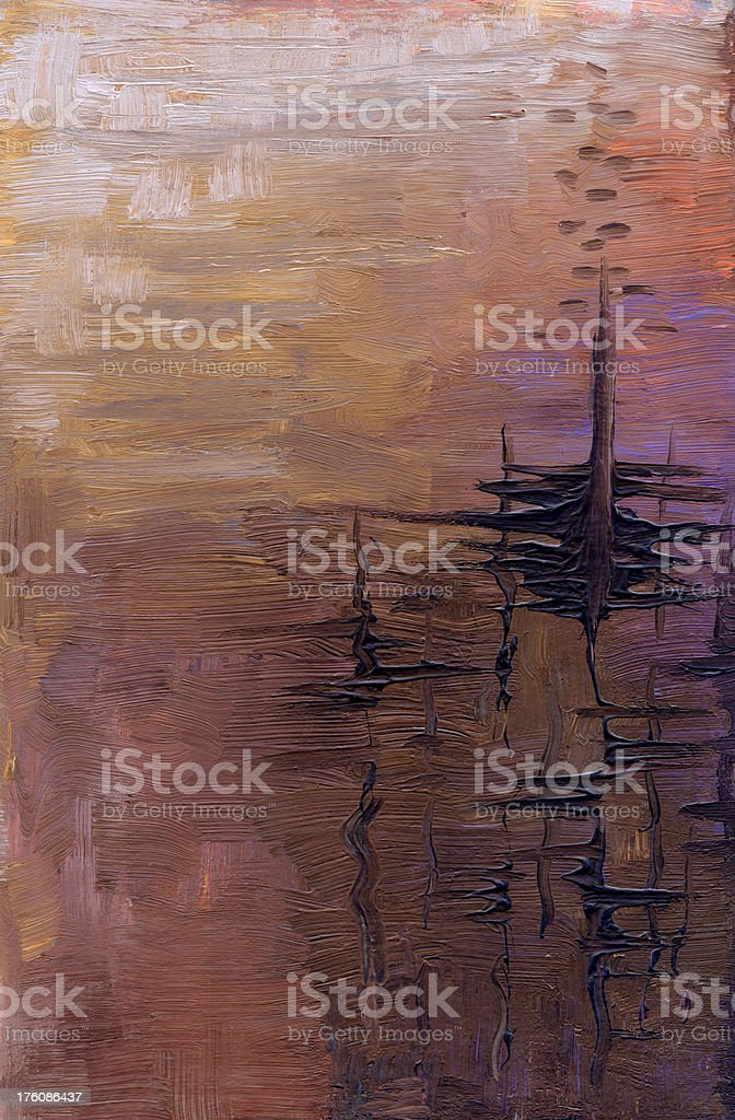 Oil painted abstract background in purple royalty-free stock vector art