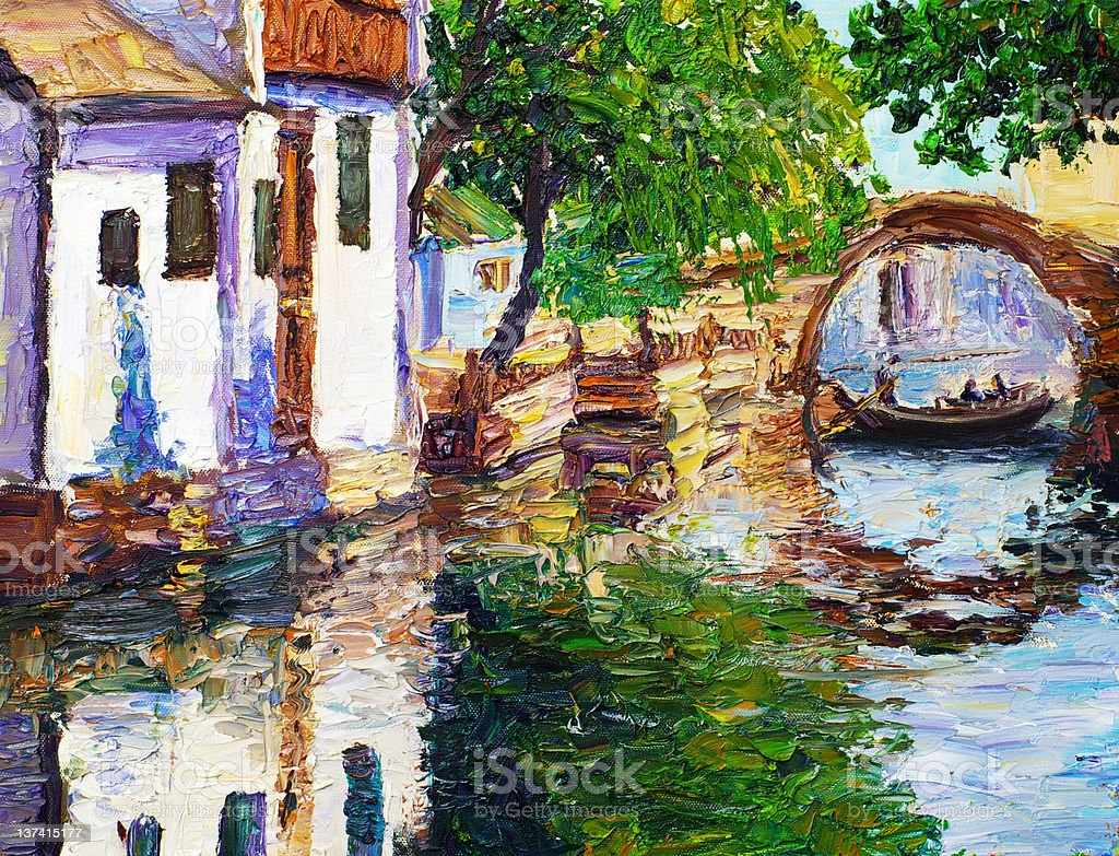 Oil Painting - Chinese Watercourse royalty-free oil painting chinese watercourse stock vector art & more images of art