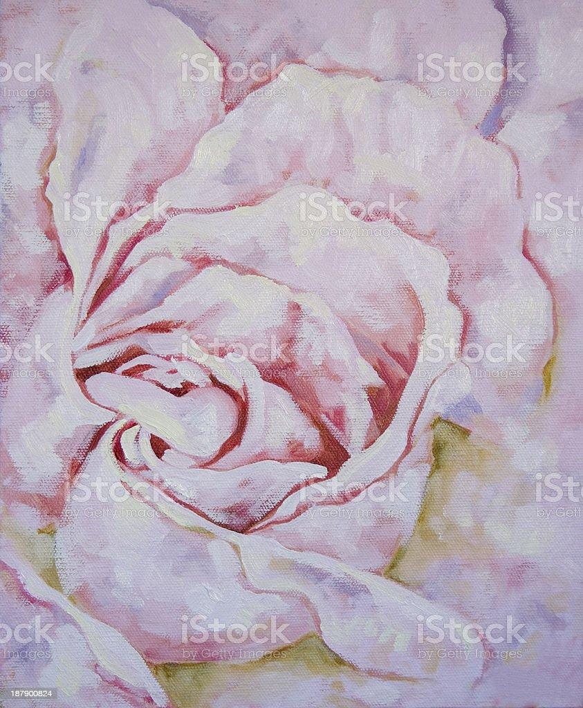 Peinture A Lhuile Gros Plan Sur Une Rose Rose Cliparts Vectoriels