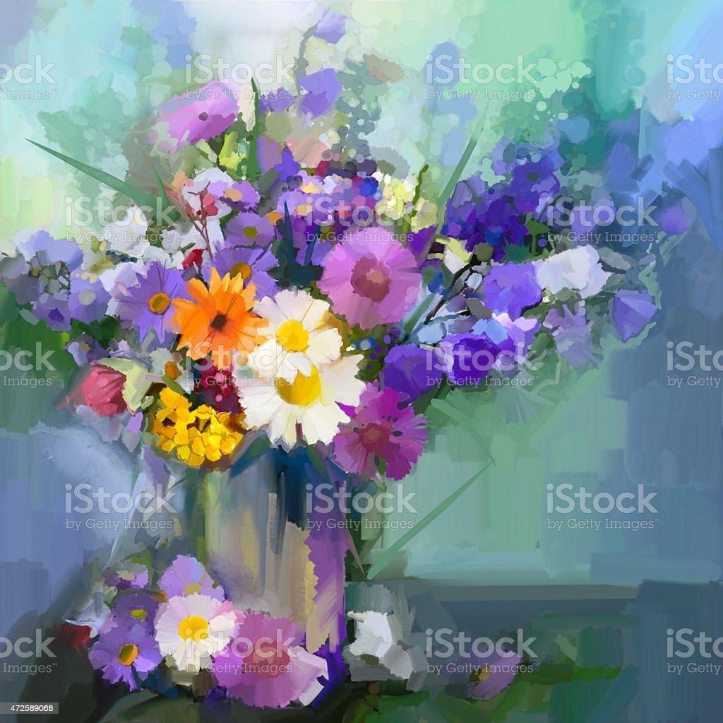 Oil painting daisy flowers in vase stock vector art more images oil painting daisy flowers in vase royalty free oil painting daisy flowers in vase stock reviewsmspy