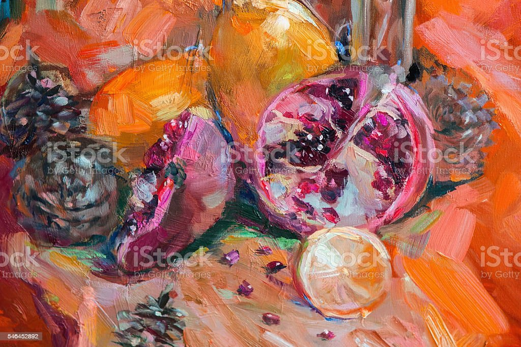 Oil Painting, Impressionism style, the texture of oil painting, vector art illustration