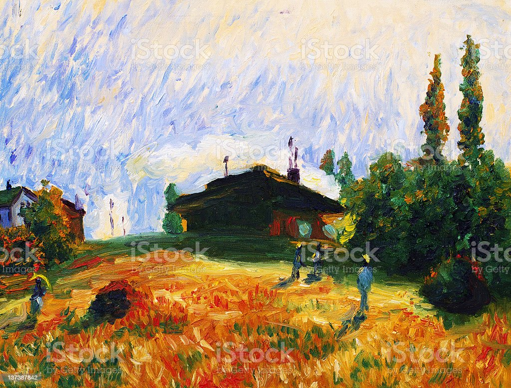 Oil Painting - Twilight royalty-free stock vector art