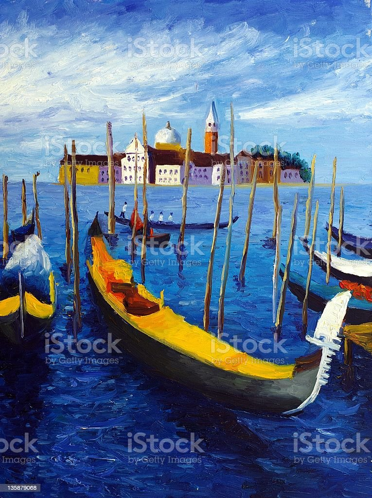 Oil Painting - Venice, Italy royalty-free stock vector art