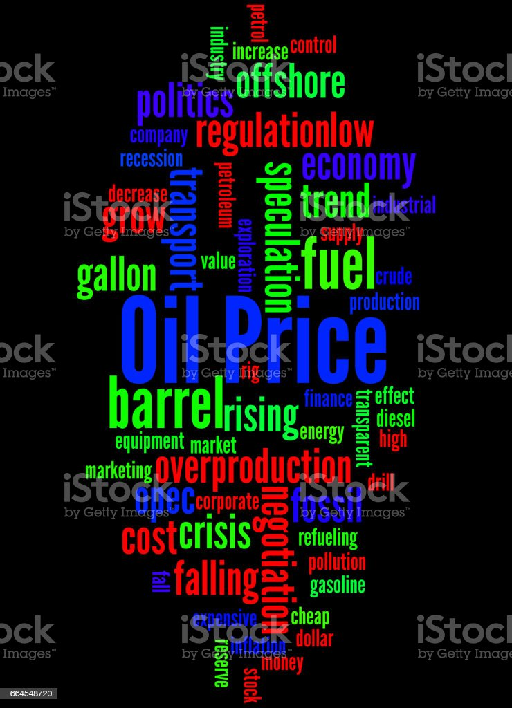 Oil Price, word cloud concept 2 royalty-free oil price word cloud concept 2 stock vector art & more images of barrel