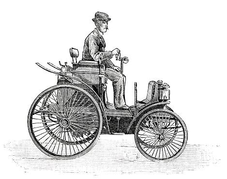 Oil quadricyle of MM Peugeot