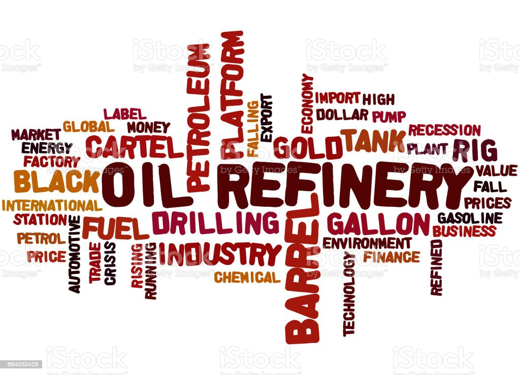 Oil Refinery, word cloud concept 9 royalty-free oil refinery word cloud concept 9 stock vector art & more images of barrel