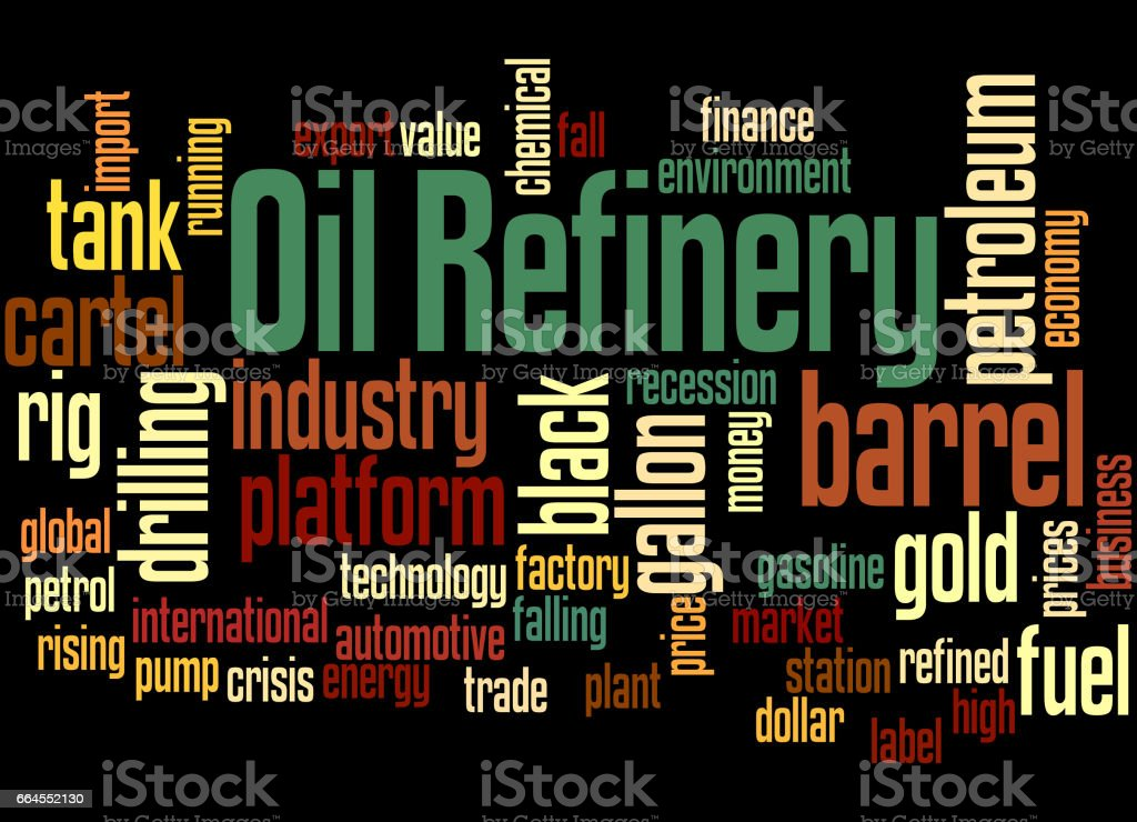 Oil Refinery, word cloud concept royalty-free oil refinery word cloud concept stock vector art & more images of barrel