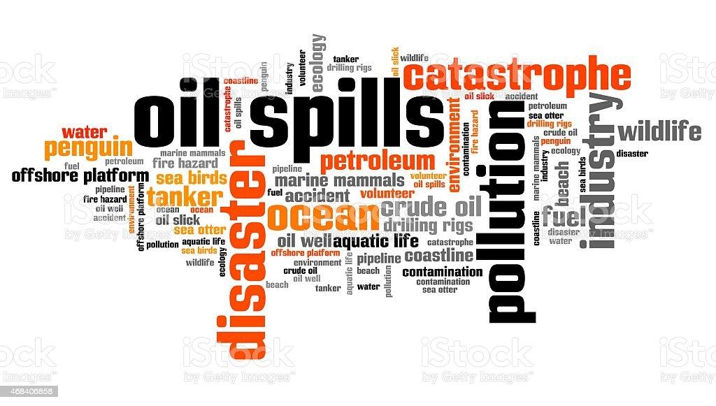Oil spills vector art illustration