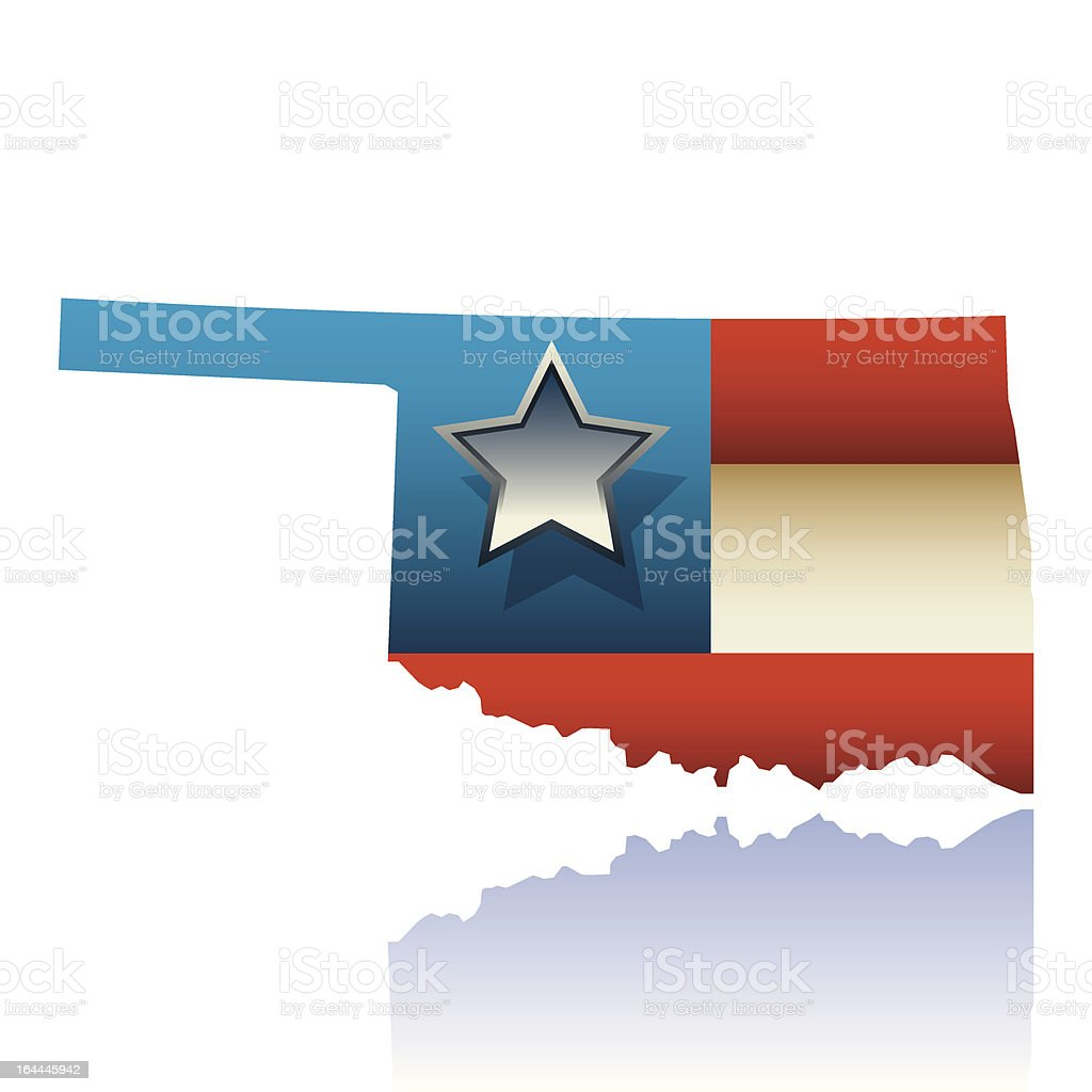 Oklahoma state map royalty-free oklahoma state map stock vector art & more images of blue