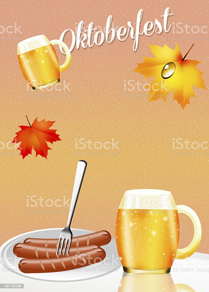 Oktoberfest beer and sausages royalty-free oktoberfest beer and sausages stock vector art & more images of alcohol