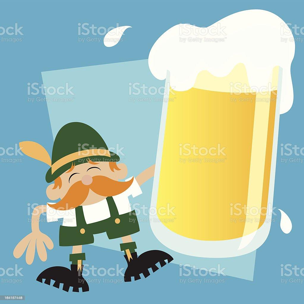 Oktoberfest Beer Cartoon Message royalty-free stock vector art