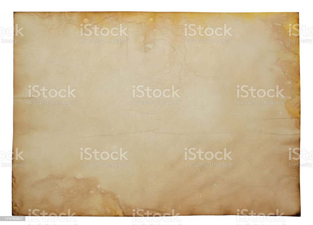 Old Aged Parchment Papyrus Paper Texture royalty-free stock vector art