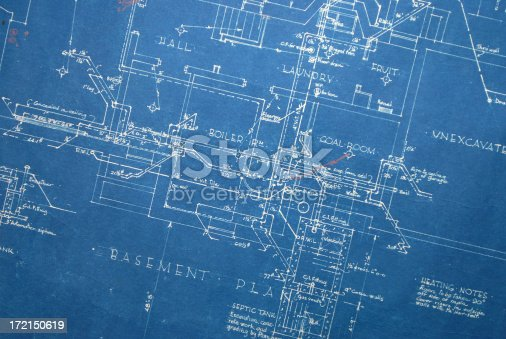 Old blueprint heating stock vector art more images of blueprint old blueprint heating stock vector art more images of blueprint 172150619 istock malvernweather Images