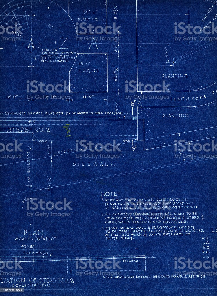 Old blueprint stock vector art more images of architecture old blueprint royalty free old blueprint stock vector art amp more images of architecture malvernweather Images
